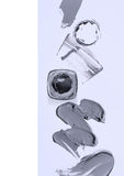 Abstrich der Farbe oder der Creme Lizenzfreies Stockbild
