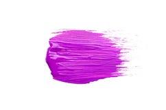 Abstrich der lila Bürste auf weißem Hintergrund Lizenzfreie Stockfotos