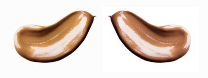 Abstrichcreme lokalisiert auf weißem Hintergrund Stockbild