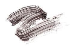 Abstrichfarbe der Wimperntusche Stockbilder