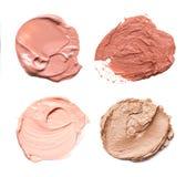 Abstrichfarbe von Kosmetik- und Schönheitsprodukten Bilden Sie Zubehör Lizenzfreie Stockbilder