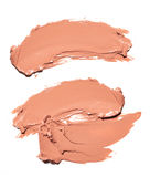 Abstrichfarbe von Kosmetik- und Schönheitsprodukten Bilden Sie Zubehör Stockfotografie