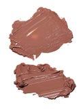 Abstrichfarbe von Kosmetik- und Schönheitsprodukten Bilden Sie Zubehör Stockfotos