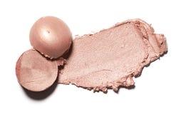 Abstrichfarbe von Kosmetik- und Schönheitsprodukten Bilden Sie Zubehör Stockbilder
