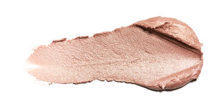 Abstrichfarbe von Kosmetik- und Schönheitsprodukten Bilden Sie Zubehör Stockfoto