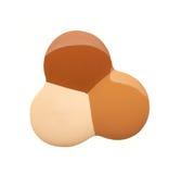 Abstrichfarbe von kosmetischen Produkten Stockbild
