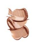 Abstrichfarbe von kosmetischen Produkten Lizenzfreie Stockfotos