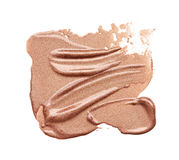 Abstrichfarbe von kosmetischen Produkten Lizenzfreies Stockfoto