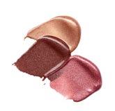 Abstrichfarbe von kosmetischen Produkten Stockfoto