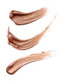 Abstrichfarbe von kosmetischen Produkten Lizenzfreies Stockbild