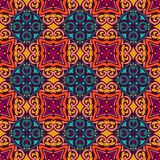 Abstrsact oriental seamless ceramic tile design pattern background. flower mandala design surface. Abstract mosaic seamless pattern. Ethnic geometric print stock illustration