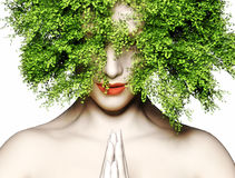 abstruct tło twarzy istoty ludzkiej matki naturalna natura Zdjęcia Stock