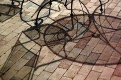 Abstsract d'ombre de meubles de patio Images libres de droits