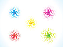 Absttract artistic colorful multiple floral shape Royalty Free Stock Photography