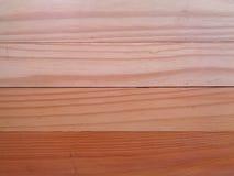 Abstufung von Brown-Farbe der hölzernen Wand, Nahaufnahme, Beschaffenheit, Hintergrund Lizenzfreies Stockfoto