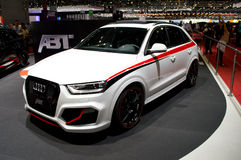 Abt Audi Q5 Geneva 2014. Geneva, 84th Salon de lAuto 2014 A sporty tuning from the well known german tuner ofor the mid sized Audi SUV royalty free stock image