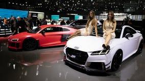 ABT som trimmar Audi modeller royaltyfria foton