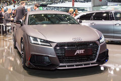 2015 ABT Sportline Audi TT. Geneva, Switzerland - March 4, 2015: 2015 ABT Sportline Audi TT presented the 85th International Geneva Motor Show Stock Photography