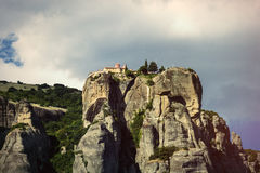 Abtei auf dem Hügel Stockfotos