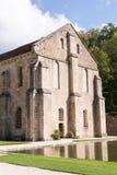 Abtei bei Fontenay Stockbilder