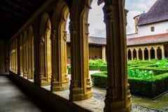 Abtei, charlieu, die Loire, Frankreich stockbild