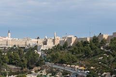 Abtei des Dormition in Jerusalem Stockbilder