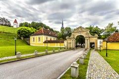 Abtei des heiligen Kreuzes in Österreich Lizenzfreie Stockfotografie