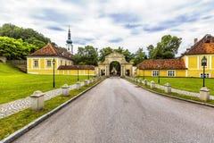 Abtei des heiligen Kreuzes in Österreich Lizenzfreie Stockfotos