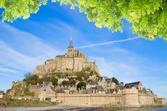 Abtei des Mont Saint Michel Stockbild