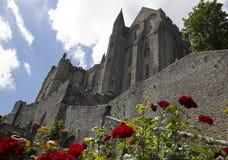 Abtei des Mont Saint Michel Stockfotos