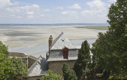 Abtei des Mont Saint Michel Stockbilder