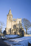 Abtei im Winter Lizenzfreies Stockfoto