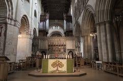 Abtei-Kathedrale Str Normanne, gotisch stockfotos