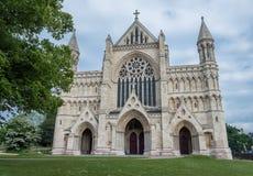 Abtei-Kathedrale Str Normanne, gotisch Stockbild