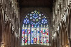 Abtei-Kathedrale Str Normanne, gotisch stockfotografie