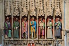Abtei-Kathedrale Str Normanne, gotisch Lizenzfreies Stockfoto