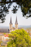 Abtei Kloster Michelsberg in Bamberg Stockbild