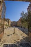 Abtei in Lagrasse, Frankreich Stockfotografie