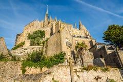 Abtei in Mont Saint-Michele Stockfotografie