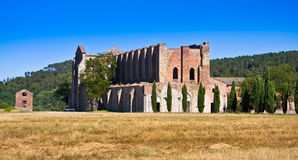 Abtei San-Galgano lizenzfreie stockfotos
