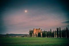 Abtei San-Galgano, Toskana Stockfotos