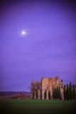 Abtei San-Galgano, Toskana Stockfotografie