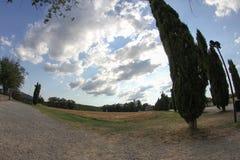 Abtei San-Galgano, Toskana, Italien Stockfotografie