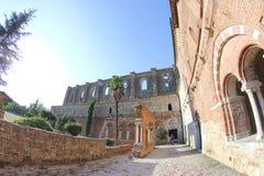 Abtei San-Galgano, Toskana, Italien Stockbilder