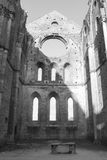 Abtei San-Galgano, Toskana, Italien Lizenzfreie Stockfotografie