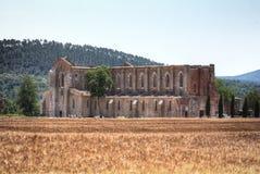 Abtei San-Galgano, Toskana, Italien Lizenzfreie Stockbilder