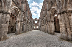 Abtei San-Galgano, Toskana, Italien Lizenzfreies Stockfoto