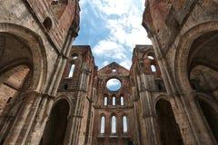 Abtei San-Galgano, Toskana, Italien Lizenzfreies Stockbild