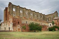 Abtei Sans Galgano Stockbild