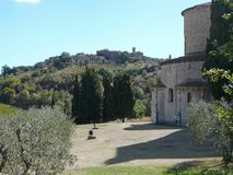 Abtei Sant Antimo in Montalcino Lizenzfreies Stockfoto